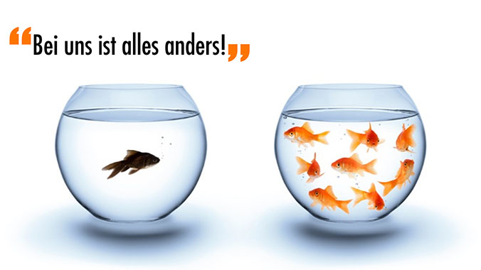 """""""Bei uns ist alles anders"""""""